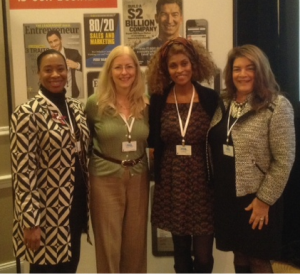 (From Left to Right) Chantel Robinson (MILSPRAY VP of Administrative Operations), Maria Joyce, Charlene Day, Maria K. Joyce