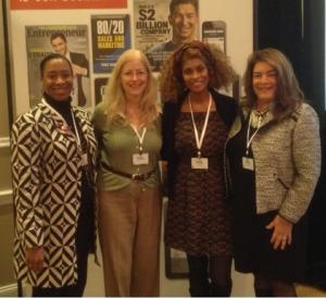 (From Left to Right) Chantel Robinson (MILSPRAY VP of Administrative Operations), Maria Joyce, Charlene Day, Maria K. Joyce