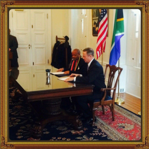 Governor Martin O'Malley with The Honorable Edward Senzo McHunu, Premier of the Province of Kwazulu-Natal, South Africa.
