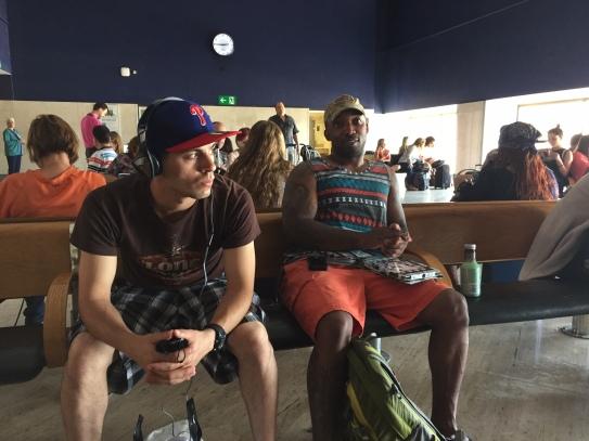 Mark and Sheron at the airport
