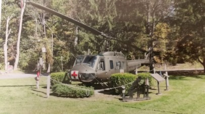 Throwback from 2011 when we donated paint to the Marsch-Kellogg Post 139 for their 1968 Bell Huey Model UHID helicopter.