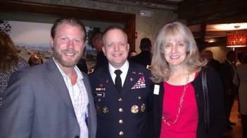 Pictured: Frank Luna (Chief of Staff - NJ Congressman MacArthur, Army Colonel Mark Towne and his wife, Marianne