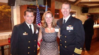 Pictured: Navy Captain Christopher Fletcher, Dana Lancellotti, Director, Ocean County Business Development & Tourism, Navy Captain Christopher Bergen