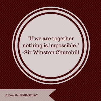 If we are together nothing is impossible.
