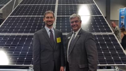 Roger Sorkin and Peder Cox, MILSPRAY's VP, Business Development