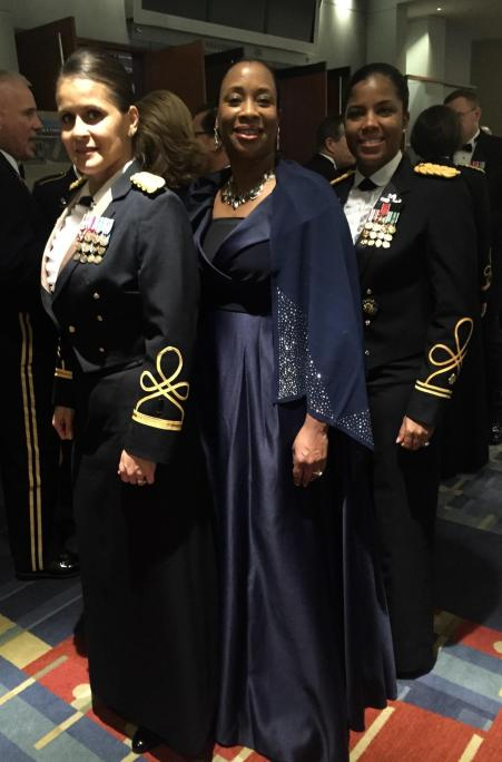 Army Chief Warrant Officer Four Enid Chandler, Chantel Robinson, Army Major Kimberly McVey