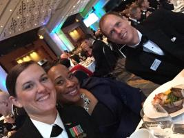 LT Laura Combs, Chantel Robinson, and Joseph Gerschutz