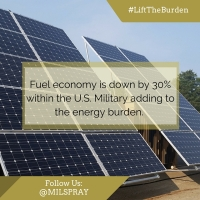 Fuel economy is down by 30% within the #USMilitary adding to the energy burden. #LightenTheBurden #AUSA2015