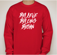 Believe Belong Begin TShirt 3 mockup