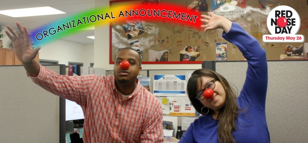 Team Org Announcement for Red Nose day