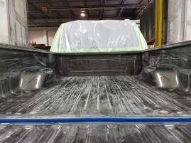 Before Tough Coat™ was applied to Shore Customs' F-250 SUPERDUTY XLT