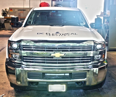 MILSPRAY's Tough Coat™ is applied to DC Electrical Services Chevrolet Silverado