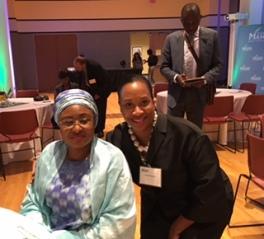 First Lady of The Federal Republic Of Nigeria Mrs Aisha Muhammadu Buhari & Chantel Robinson