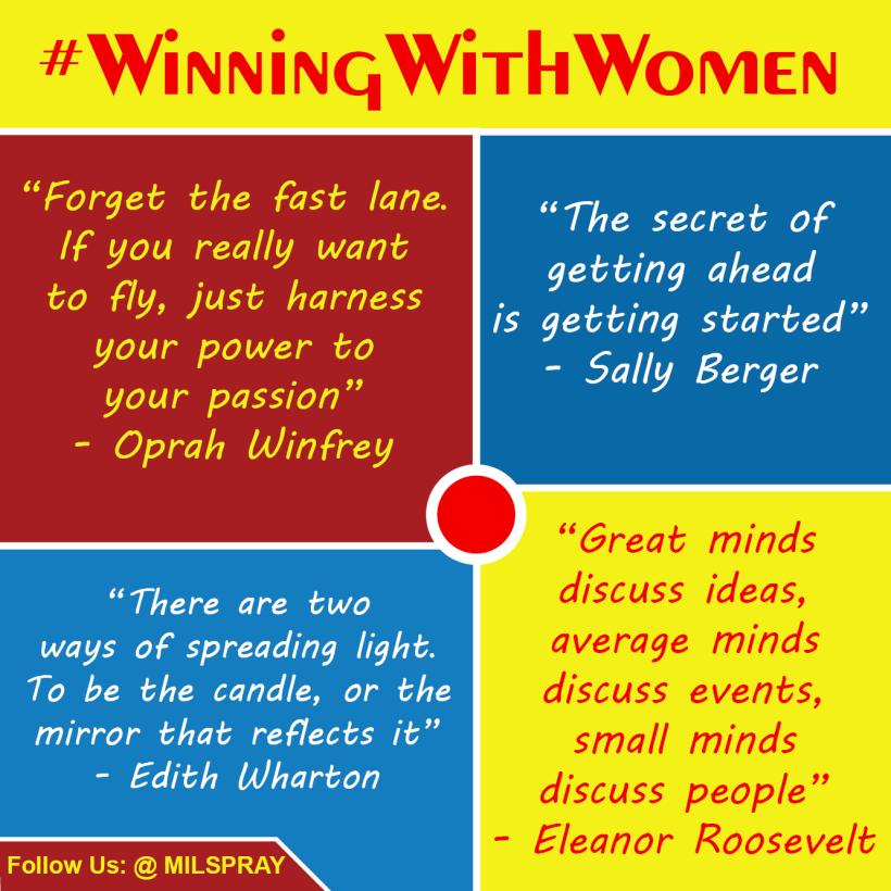 Oprah Winfrey Edith Wharton Sally Berger Eleanor Roosevelt