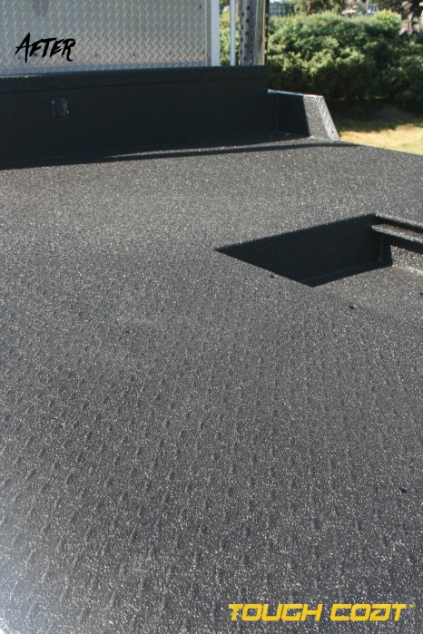 After Tough Coat is applied on Freightliner