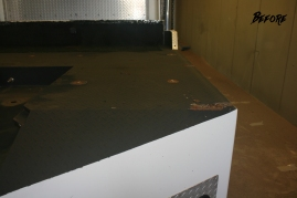 Before Tough Coat is applied on Freightliner
