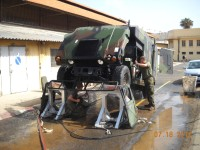 USMC using Vehicle Wash System in Dakar, Senegal.