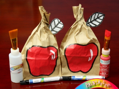 Made with PAINTABLES: Brown Bag Apples