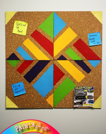 Made with PAINTABLES: Cork Board