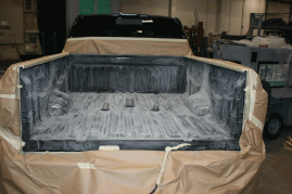 Bed Liner Tough Coat Nissan Titan - Before
