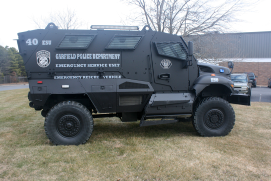 Garfield Police Department Mine Resistant Ambush Protected Vehicle Mrap Milspray