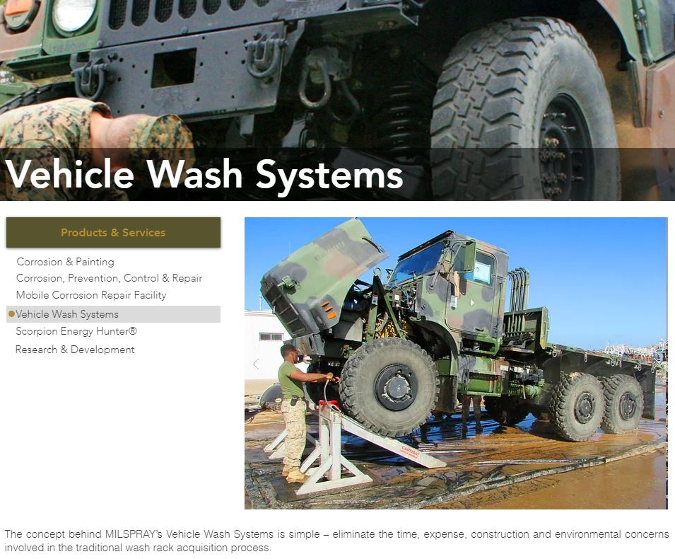 Vehicle Wash Systems MILSPRAY