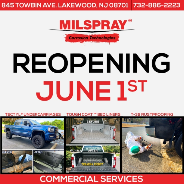 Reopening Commercial Services MILSPRAY